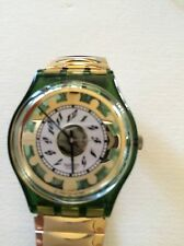 "SWATCH WATCH ""GREEN SHINE"" VERY RARE NEW COLLECTABLE MINT GG132 GREAT GIFT NIB"