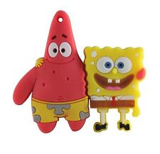 8GB Bob Esponja & Squidward USB 2.0 Flash Pen Drive Memory Stick Sponge Bob Nuevo