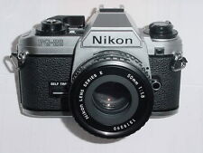 Nikon FG-20 35mm Film SLR Manual Camera with Nikon 50mm F/1.8 SERIES E Lens