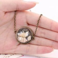 Antique Style Shells Decor Clear Glass Dome Cameo Cabochons Pendants Necklace