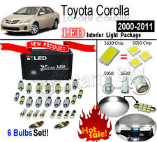 6 Bulbs Super White 5630 LED Interior Light Kit For Toyota Corolla 2003-2012