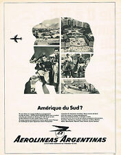 PUBLICITE ADVERTISING 024   1968   AEROLINEAS ARGENTINAS   amérique du Sud