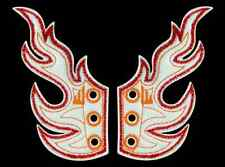 SHWINGS FLAME WHITE FOIL WITH RED/ORANGE wings SHOES official Shwings NEW 30101