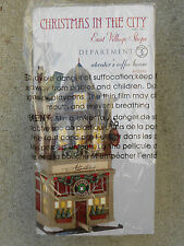 DEPT 56 CHRISTMAS IN THE CITY ATWATER'S COFFEE HOUSE NIB *Still Sealed*
