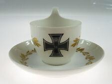 """patriotische Mokkatasse + Untertasse - KPM Berlin - """"Eisernes Kreuz"""" - 1914 1.WK"""