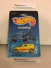 #1 '32 Ford Delivery 7672 * Yellow * 1988 Malaysia * Vintage Hot Wheels * E18