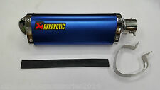 XTREME Akrapovic Blue Triangle Racing Exhaust Silencer For All Bikes