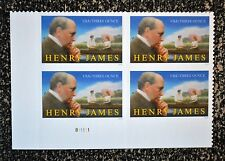 2016USA Three Ounce Rate - Henry James - Plate Block of 4  Mint