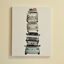 OFFICIAL VOLKSWAGEN CAMPERVAN VW CANVAS WALL ART BEDROOM KIDS 50X40CM 54008