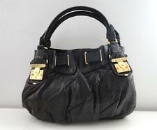 $398 AUTHENTIC JUICY COUTURE BLACK LEATHER FREESTYLE LOCK SATCHEL HOBO TOTE BAG