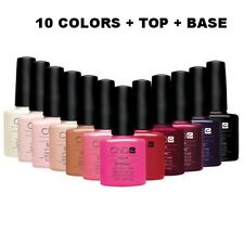 CND SHELLAC Nail Polish UV Soak off gel colors SET. PICK 10 COLOR+ TOP + BASE