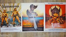 L'EPEE SAUVAGE , barbarians , l'archer  ..!  3 affiches cinema heroic-fantasy