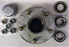 "Galvanized - Trailer Hub Kit 1-1/16"" x 1-1/16"" -  5 Lug"