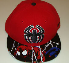 Spiderman New Era Cap Hat Fitted 7 1/4 Viza Foil Marvel Comic 59Fifty Brim Logo