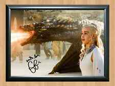 Emilia Clarke Daenerys Game Of Thrones Signed Autographed A4 Print Poster Photo