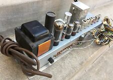 SWEET 1967 Hammond AO-67 Tube Amplifier Chassis 6V6 12AX7 Guitar Amp Project 29