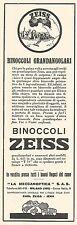 W2192 Binoccoli grandangolari ZEISS - Pubblicità del 1931 - Old advertising