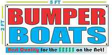 BUMPER BOATS Full Color Banner Sign NEW Larger Size Best Quality for the $$$