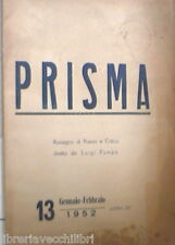 PRISMA Gennaio Febbraio 1952 Cardarelli Jeanne Marvig Luigi Pumpo Vigolo Sala di