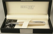 Online Germany Business Line Champagne Cisele & Chrome Fountain Pen - New In Box