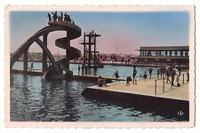 Africa real photo postcard Morocco Casablanca Le Toboggan de la Piscine