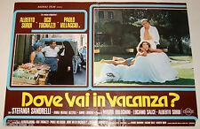 fotobusta film DOVE VAI IN VACANZA ? Ugo Tognazzi S.Sandrelli Alberto Sordi 1978
