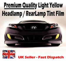 2 x A4 Sheets 'Light' Yellow Car Headlight Rear Lamp Fog Light Tint Tinting Film