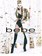 PUBLICITE ADVERTISING  2010   BEBE  haute couture  cuissardes