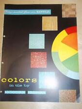 Kentile Floors Catalog~Asbestos~Flooring~Tile~1957
