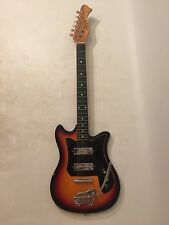 Harmony H802? Solid Body 6 String Electric Guitar Sunburst w/ Bigsby Tremolo Bar