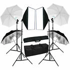 Photography Continuous Softbox Lighting Kit Photo Studio Umbrella Lighting Set