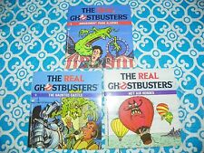 Set of 3 Vintage 1987 The Real Ghostbusters Wanderer Book Books Slimer #X3