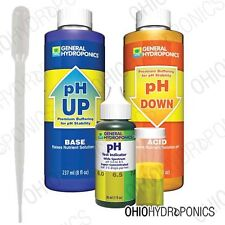 General Hydroponics pH Control Test Kit - pH up & down combo + 3ML Pipettes