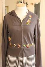 Anthropology Saturday/Sunday Embroidered Short Hoody Jacket W/ Puffed Sleeves L