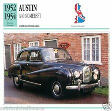 AUSTIN A40 SOMERSET 1952-54 CAR VOITURE Great Britain GRANDE BRETAGNE CARD FICHE