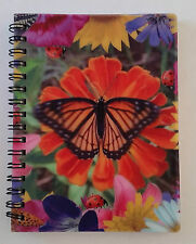 3D changing photo moving image lenticulaire notebook butterfly open/close ailes