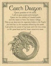 EARTH DRAGON - POSTER  Wicca Pagan Witch Witchcraft Goth Punk BOOK OF SHADOWS