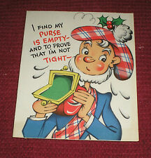 Vintage 1940s Gibson Adorable Scottish Man Christmas Card