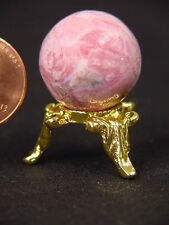 BUTW Argentine  rhodochrosite  mini sphere  20 mm with stand   lapidary  7096K