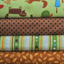 Animal Party Too Earth 4 Fat Quarters Bundle by Amy Schimler for Robert Kaufman