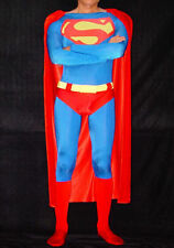 New.Adult Superman Costume, Skin-tight, Plain Lycra Spandex, classic Red & Blue