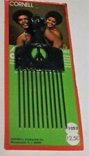 Vintage Cornell Large Afro Comb Peace & Power Fist Pick Style 1150