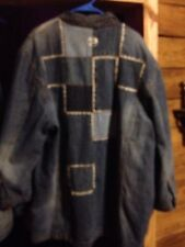 Pepe Jeans Distressed Patchwork Denim Jacket, 3X, LS, Very Unique, must see pics