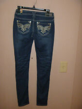NWT HOT & SEXY HYDRAULIC LOLA CURVY DISTRESSED SKINNY JEANS SIZE 0... BLING..WOW