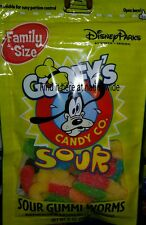 Disney GOOFY'S Candy Company SOUR GUMMI WORMS Family Size Bag Candy 6 oz NEW