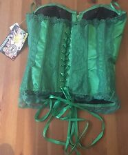 DC Comics Poison Ivy Corset Bust Cosplay Costume - Green Size L/XL NEW