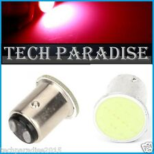 1x Ampoule LED COB 12 Chips Rouge Red feux stop P21W / BAY15D / 1157 / R5W