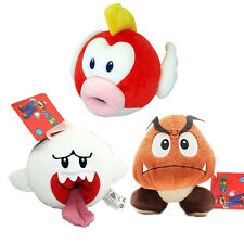 3 PCS New Super Mario Bros Boo Ghost&Goomba Plush & Flying Fish Stuffed Toy