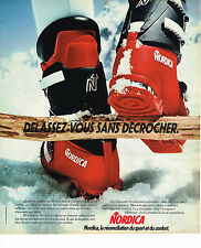 PUBLICITE ADVERTISING  1975   NORDICA   chaussures de ski