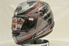 Arai Signet-Q Brett King Black Red Sport Bike Motorcycle Helmet XL Open 818434